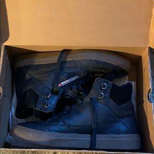 men's black diesel shoes